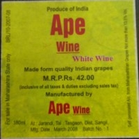 Ape Winery, Wine made from quality Indian grapes